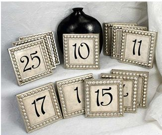 wedding table numbers | Words of Willow