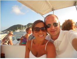 On the Sunset Harbor cruise, just a few hours before he proposed!!