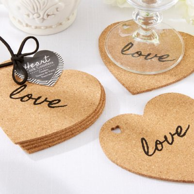 Photo from http://www.beau-coup.com/wedding/heart-shaped-cork-coasters.htm