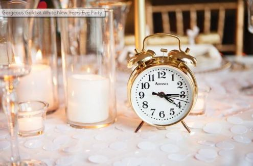 his gorgeous Gold & White New Year's Eve Party by Ashley Drummy of Poppy & Plum Events