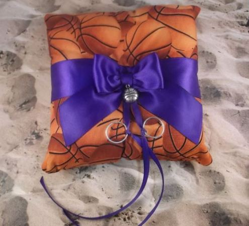 Image courtesy of jbconaway Etsy https://www.etsy.com/listing/182212489/basketball-orange-fabric-royal-purple