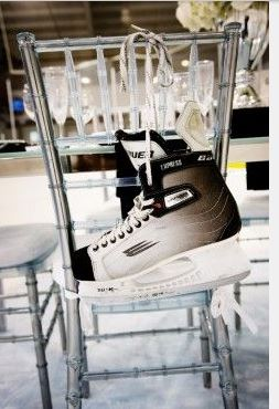 Photo Courtesy of Elizabeth Anne Designs http://www.elizabethannedesigns.com/blog/2010/06/09/hockey-inspired-wedding-ideas/