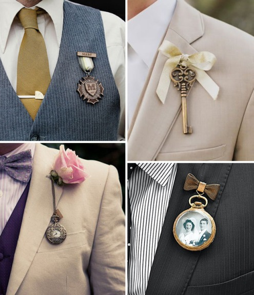 Photo Found Here http://onefabday.com/stepping-box-16-alternative-boutonnieres-grooms/