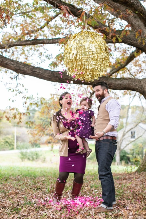 Photo Found Here http://www.brit.co/gender-reveal-ideas/ via Funny/Beautiful http://funnybeautiful.com/how-to-giant-pull-string-pinata/