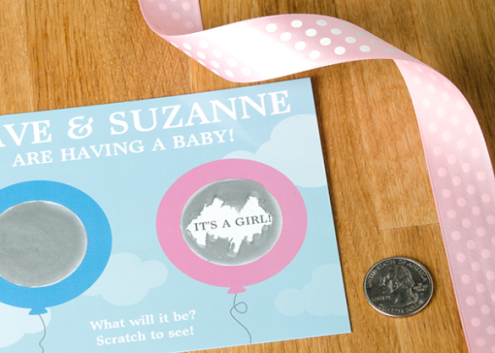 Photo Found Here http://blog.zazzle.com/2013/05/12/diy-baby-shower-series-scratcher-postcards/ Photography & Collage by: Aaron Calestar and Nicole Pittman Concept & styling by: Jenny Wagner Business card design by: Zazzle Templates