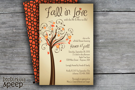 Autumn/Fall Theme Wedding & Shower Ideas | Words of Willow
