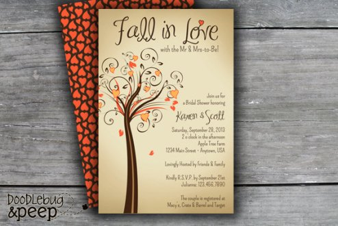 Photo From Etsy Shop https://www.etsy.com/listing/154368477/printable-fall-in-love-bridal-shower
