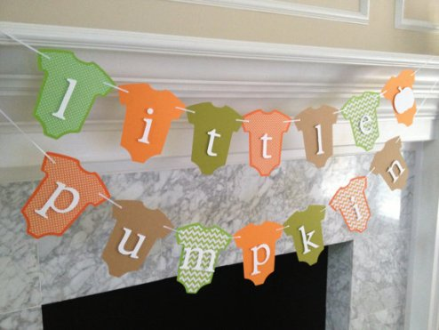 Photo From Etsy shop: https://www.etsy.com/listing/204030512/baby-shower-decor-little-pumpkin-banner